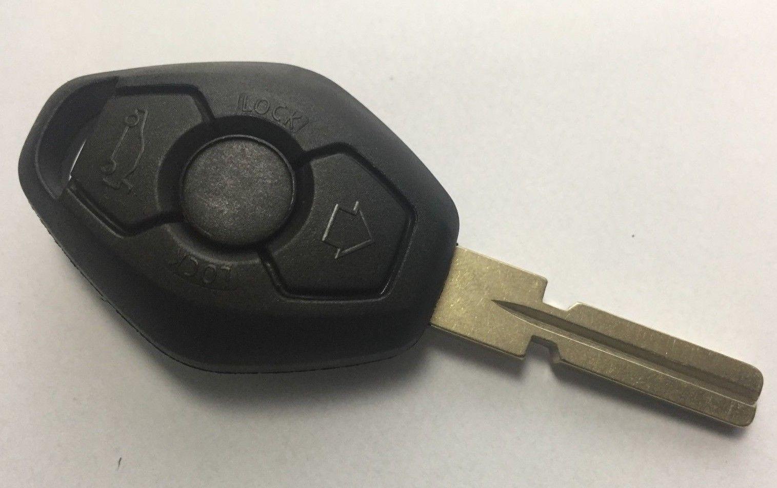 For BMW 3 5 7 X3 X5 Z4 E38 E39 E46 3 button remote key fob shell & blade HU58