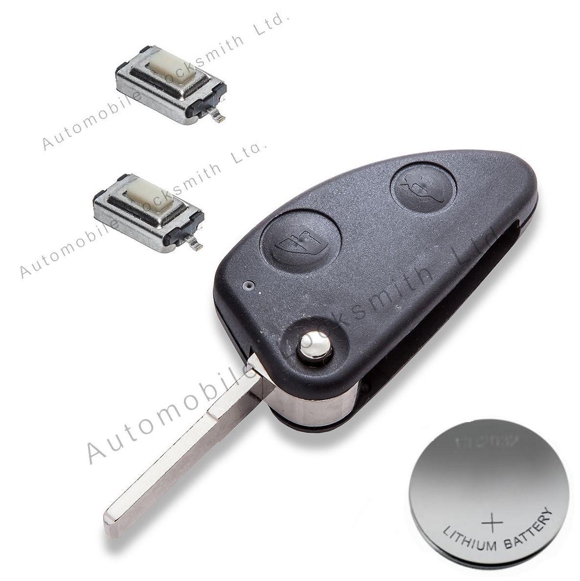DIY repair kit for Alfa Romeo 2 button remote flip key
