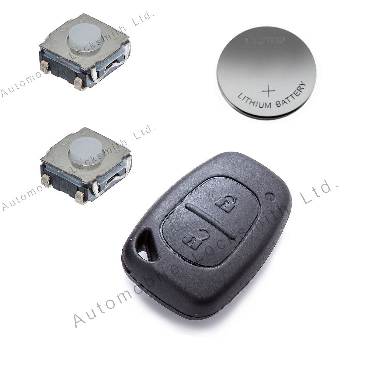 Repair kit for Vauxhall Renault Nissan 2 button remote key