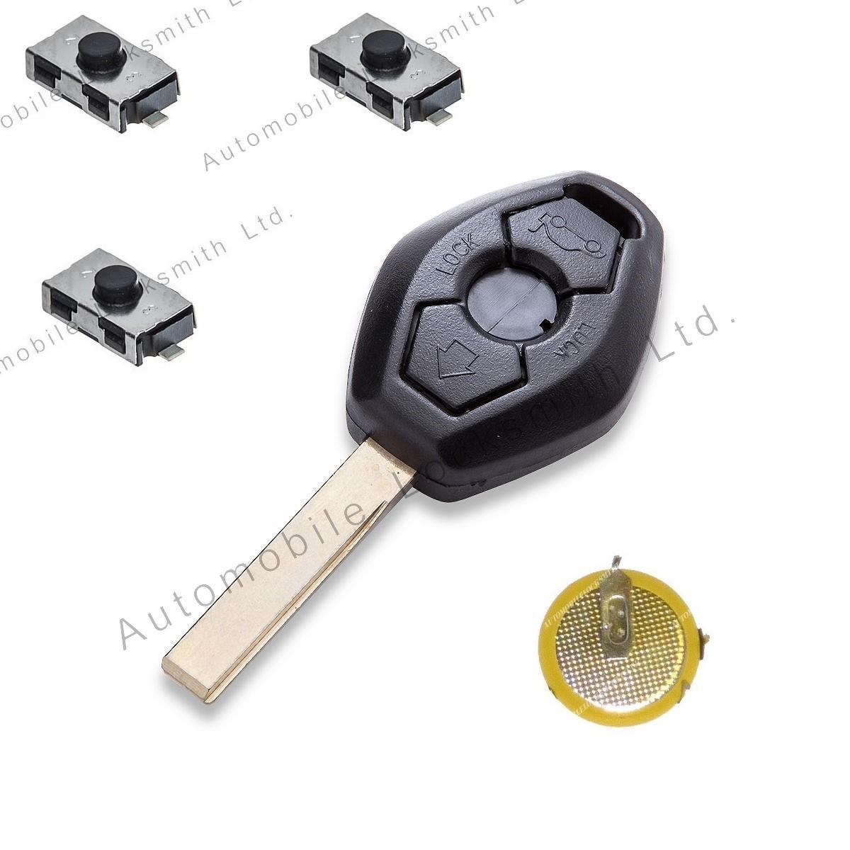 DIY Repair kit fot BMW 3 button remote key with HU92 blade