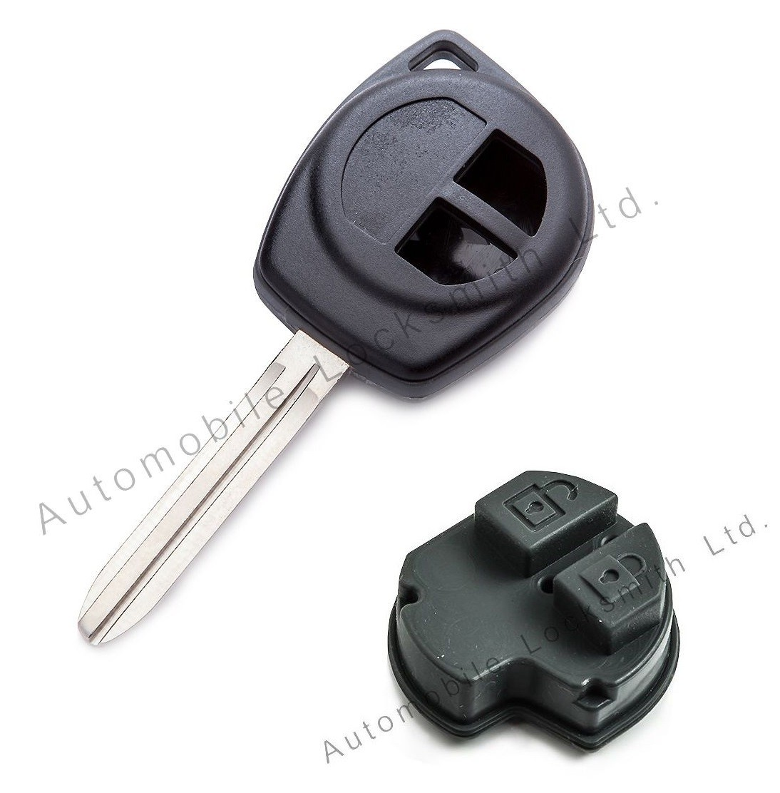 for Suzuki Fiat Vauxhall Opel 2 button remote key fob shell blade S43 rubber pad