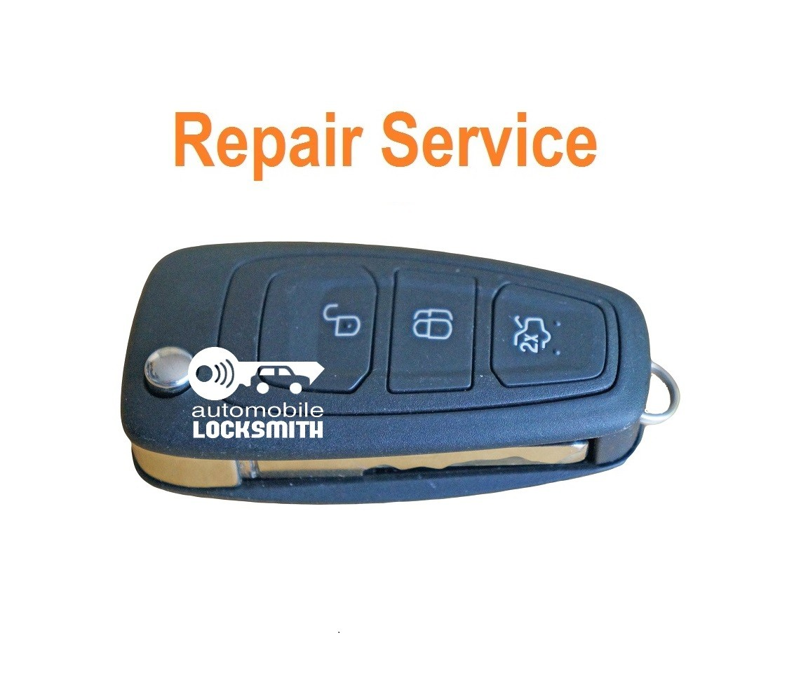 Repair Service for Ford Transit 3 button flip remote key fob battery replacement