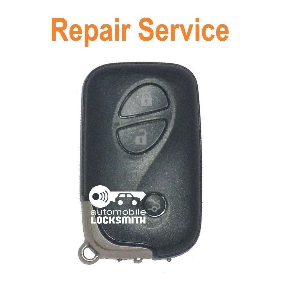 For Lexus LS400 RX300 GS 3 button smart remote key Repair Service