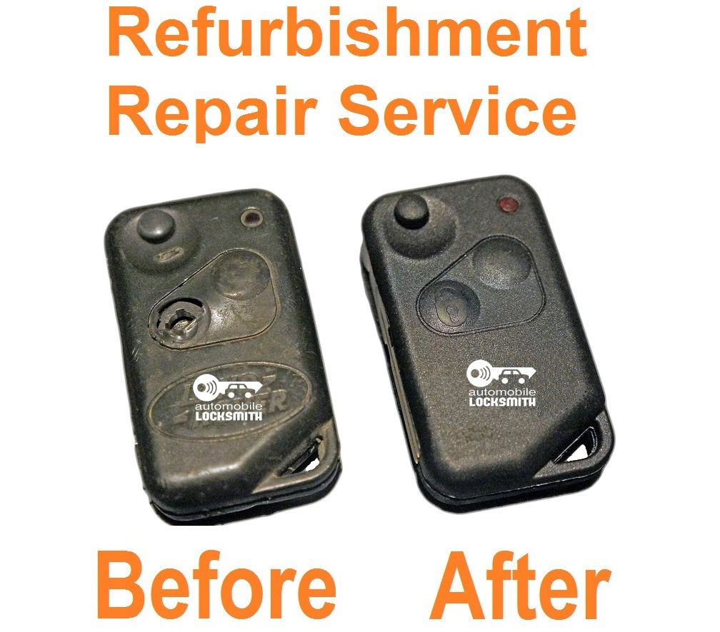 Repair service for Range Rover P38 2 button remote key