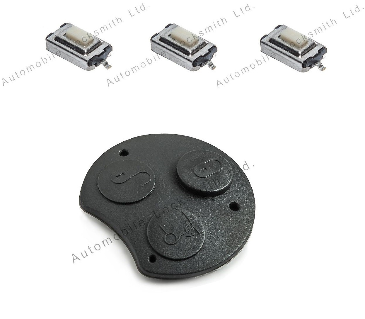 Repair kit for Smart 3 button remote key rubber pad and 3 switches