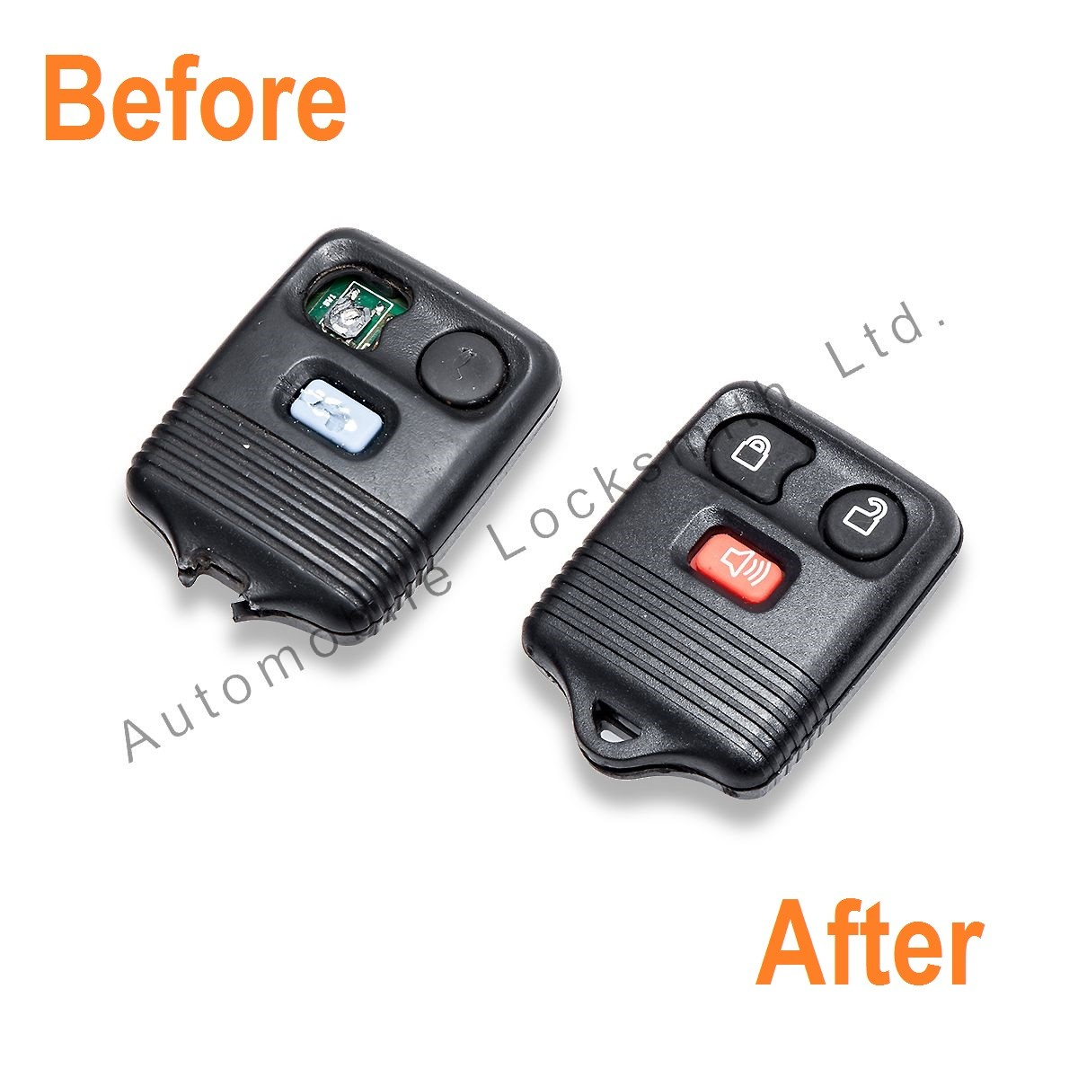 Repair service for Ford 2-3 button remote alarm key