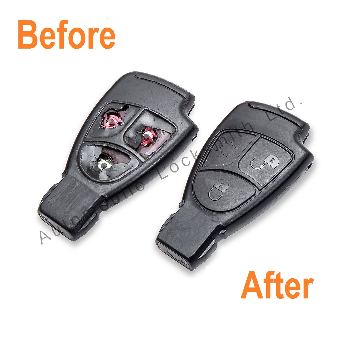 Repair Service for Mercedes 3 button remote smart key