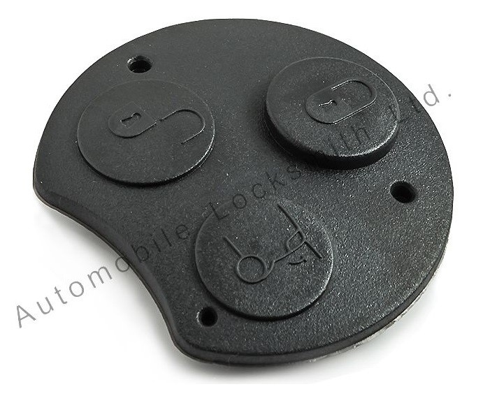 Rubber button pad for Smart 3 button remote key