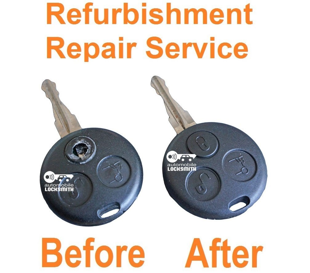 For Smart Roadster Fortwo Forfour Passion 3 Button Remote Key Repair Service