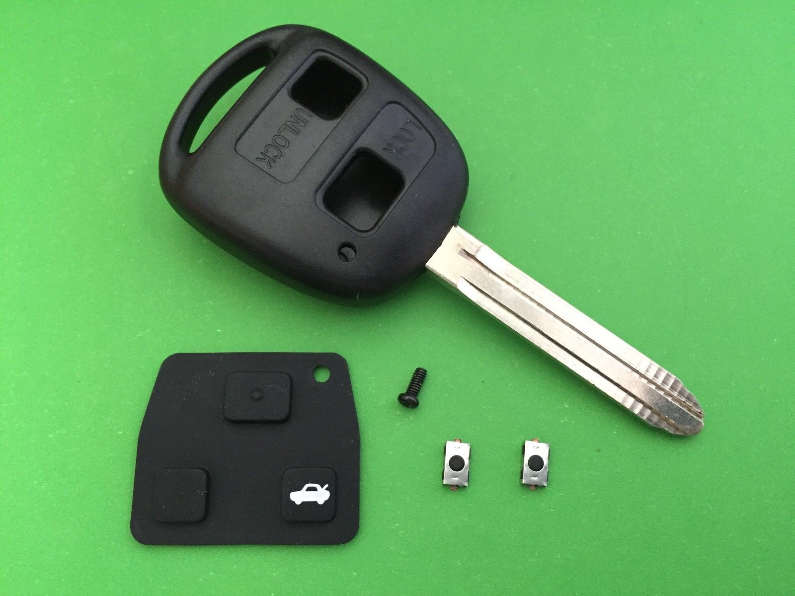 for Toyota Rav4 Yaris 2 button key repair kit switches buttons Toy43 8mm
