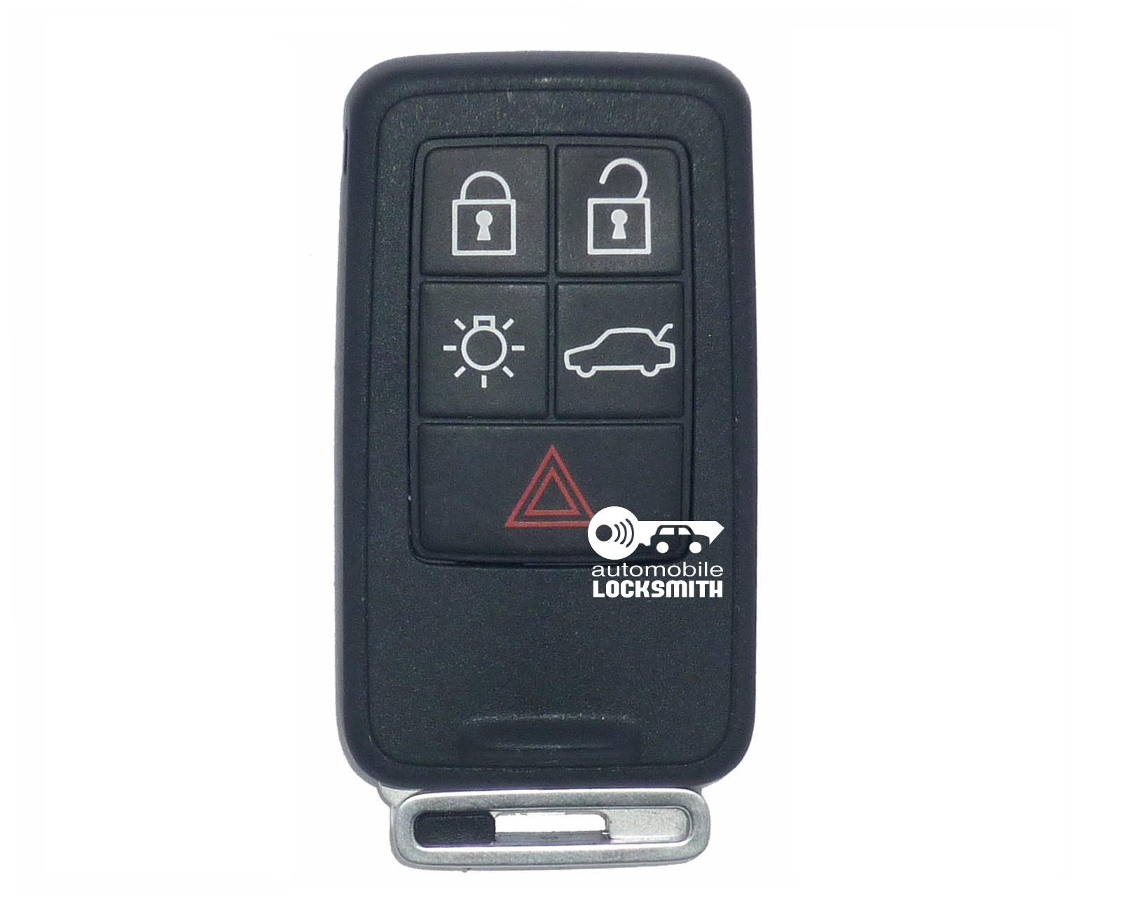 used Volvo S60 S80 XC70 XC90 5 button smart remote key fob part no; Siemens 31266627