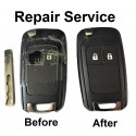 Repair refurbishment service for Vauxhall Opel Insignia Astra 2 button remote flip key