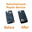 For Peugeot 807 1007 4 button remote flip key repair refurbishment service