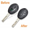 Repair Service for Land Rover Mini Mg Rover 75 2 button remote key
