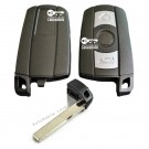 Key blade with case shell for BMW 1 3 5 6 7 Series E90 E92 E93 3 button smart key