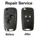 Repair Service for Chevrolet Chevrolet Cruze Orlando 3 button remote flip key