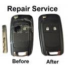 Repair refurbishment service for Vauxhall Opel Insignia Astra 2 button remote flip key