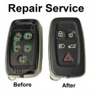 Repair service for Land Rover 5 button remote keyless smart key fob Range Rover