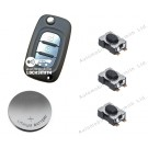 Repair DIY kit for Renault Clio Kangoo Megane Modus 3 button remote flip key fob