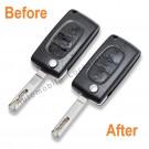 Repair Service for Peugeot Citroen 3 button remote flip key
