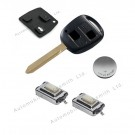 Kit for Toyota Corolla Avensis 2 button remote key fob toy47