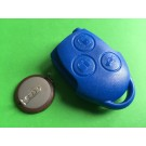 Repair kit for Ford transit 3 button remote key case shell blue battery