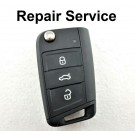 Repair Service for Volkswagen Tiguan Touran Teramont T-Roc Golf Sportsvan 3 Button Remote Key